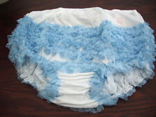 WHITE AND PALE BLUE ADULT SEXY  RUMBA, SISSY,DANCE, AB panties  XL