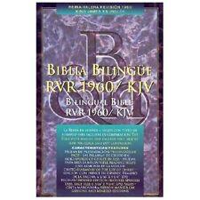 Santa Biblia Bilingual Bible, RVR/KJV with thumb index(1988) faux leather 180608