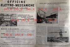 RIVAROLO LIGURE OFFICINE ELETTRO MECCANICHE GRU ARGANO CARRO LOCOMOTIVE 1920