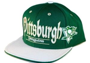 Pittsburgh Penguins Reebok N NHL St. Patrick's Snapback Flat Bill Hockey Cap Hat