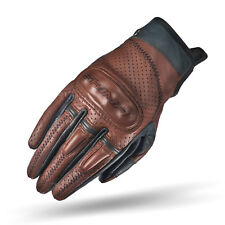 SHIMA CALIBER LADY, Leather Vintage Brown Motorcycle Gloves for Women (XS-L)
