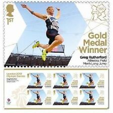 UK Olympic Gold Medal Greg Rutherford Men's Long Jump miniature sheet MNH 2012