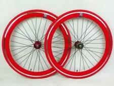 NOLOGO red Single Speed wheelsets Fixed Fixie 700c flip-flop hub Wheelsets b