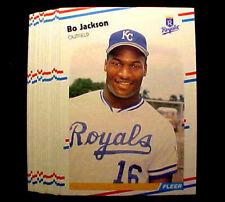 1988 Fleer BO JACKSON ~ 20 CARDS LOT ~XXX~ TWO SPORT PHEN0M
