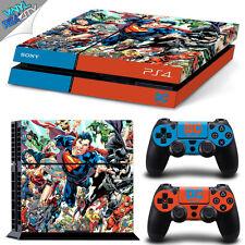 DC UNIVERSE Playstation 4 PS4 Skin Decal Wrap / BATMAN SUPERMAN WONDER WOMAN