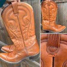 Vintage Levi's Cowboy Boots Cowgirl Western Orange Tab 9 M