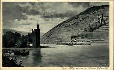 Bingen Rheinland-Pfalz Rhein Schiff AK ~1910 Mäuseturm Turm Burg Ehrenfels Rhein