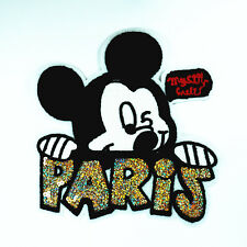 1pcs Large Embroidery Sequins Mickey Dress Applique Cloth Paste Patch DIY