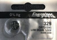 ENERGIZER 329 S42 24 V329 1 pce Battery SHIPS FREE USA. Authorized seller