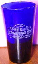 GRAND RAPIDS BREWING CO OKTOBERFEST COBALT BLUE BAR BEER DRINKING GLASS Michigan