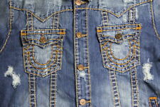 True Religion Men Denim Blue Super T Jacket 3XL XXXL XXXLARGE SLim Fit MR62NVO6