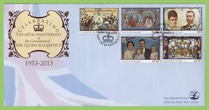 Ascension 2013 60th Anniversary of QEII Coronation set on First Day Cover