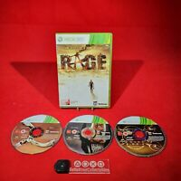 Rage - Microsoft Xbox 360 Game 3 Disc Complete *BellaRoseCollectables*