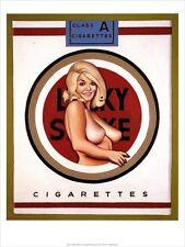 Mel Ramos Lucky LULU bionda sigarette pubblicità poster manifesto 3 POPART