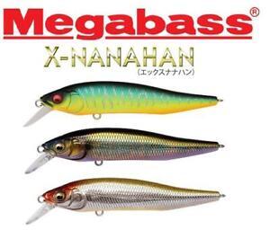 Megabass X- Nanahan Jerkbait 75mm 1/4oz Slow Floating (Select Color)