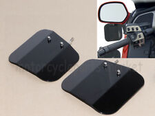 For HONDA GOLDWING GL1800 F6B MIRROR MOUNT 2 PIECE WIND DEFLECTORS  SHIELD BLACK