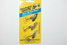 best panther martin trout spinners 3 lures size 4  1/8oz  perch silver gold bob3