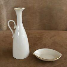 Lenox Vinegar oil decanter dipping plate 2 porcelain Classics ivory pitcher