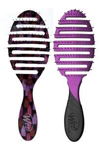 2 PACK Wet Brush Pro  2.0 Flex Dry Purple & Power Pigment Vented Brush