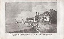 SPIAGGIA MERGELLINA NAPOLI - Incisione Originale Mariano Vasi 1821 Naples
