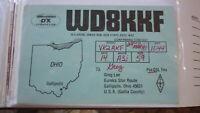 OLD VINTAGE QSL HAM RADIO CARD POSTCARD, GALLIPOLIS OHIO 1081