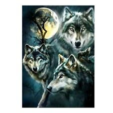 5D Full Diamond Embroidery Wolf Painting DIY Cross Stitch Kit Home Decoration