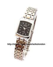 OMAX Damen schwarz Zifferblatt Armbanduhr Silber Verzierung SEIKO Uhrwerk