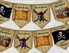Pirates Party Decoration Bunting/Banner & Ribbon