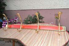 Vintage Design Alu Wand Flur - Garderobe Orange Rot Space Age Hakenleiste 60 70s