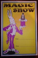 Magic Poster~Vintage Las Vegas Original 11x17 Kids Announcement 1992 Show Board~