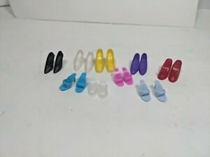 Vintage Lot of  Barbie Doll Shoes spike High Heels Open Toe Slide pilgrim