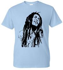 Bob Marley Inspired Reggae T-Shirt Smoke Weed Jamaican Ragga Music Xmas Gift Top