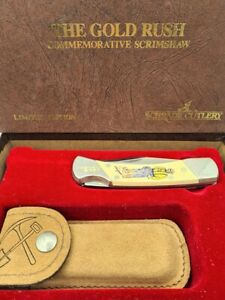 RARE SCHRADE CUTLERY USA LIMITED EDITION POCKET FOLDING KNIFE - THE GOLD RUSH