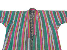 OLD UZBEK HAND DYED IKAT-BEKASAM CHAPAN ROBE OF BAYSUN RM-324