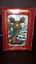 "Grandeur Noel Moose Holiday Ornament in Tin Box 4"" comes with original box"