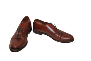 Mens Brown Leather Lotus Shoes UK Size 8 Lace Up Formal Wedding Business