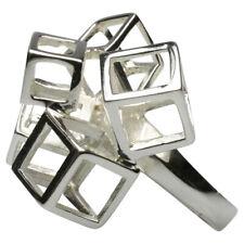 Extravaganter Ring aus poliertem 925er Silber