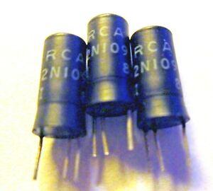 Three (3) Vintage RCA Black 2N109 PNP Germanium Alloy Junction Transistors NOS