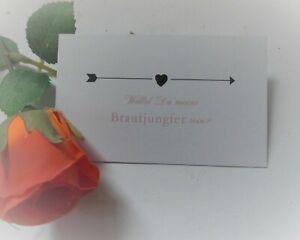 Brautjungfer Geschenk Karte - Verpackung mit Herz