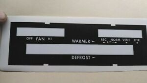 Like NOS 1965 Buick Electra   Heat - A/C control face plate
