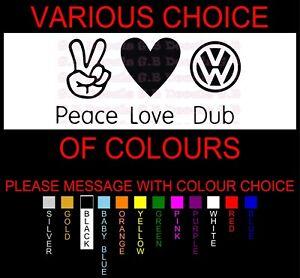 NO 145 PEACE LOVE DUB JDM STREET DRIFT DECAL FUNNY WINDOW STICKER