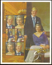 Mongolia - Prince Willem-Alexander And Princess Maxima Sheet of Six Stamps MNH