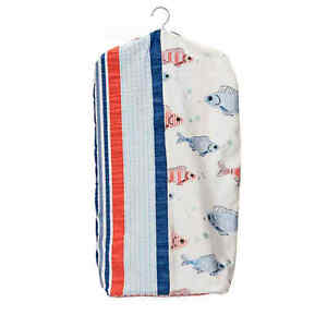 Glenna Jean Baby Accessories Fish Tales Red/White/Blue Diaper Stacker Holder NIP