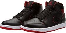 Mens Air Jordan 1 Mid  554724-028 Black/Black Brand New Size 14