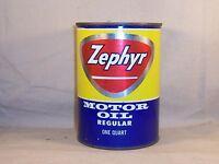Vintage Zephyr Motor Oil Can Bank Gas & Oil Service Station Muskegon Michigan