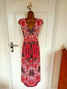 Wallis Petite size UK- 18p Unlined Fit & Flare long dress the top is lined VGC