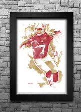 COLIN KAEPERNICK watercolor art print/poster SAN FRANCISCO 49ERS FREE S&H
