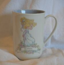 "Enesco Precious Moments Coffee/Tea Mug ""Connie"" 1989 Samuel J. Butcher  4 1'8"" T"