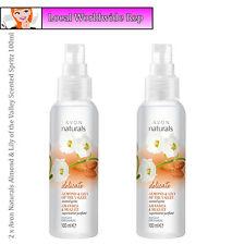 2 x Avon Naturals Almond & Lily of the Valley Scented Spritz Mist Spray 100ml
