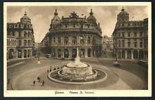 Genova - Piazza De Ferrari - cartolina viaggiata nel 1939